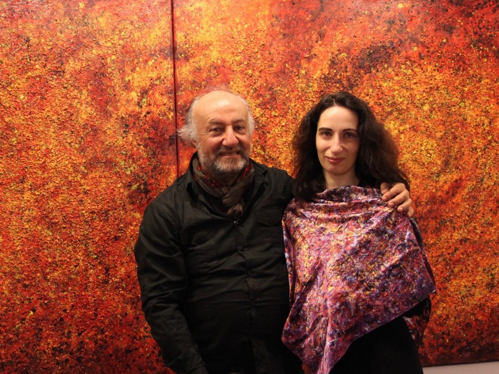 Art on Scarf - In the Museum